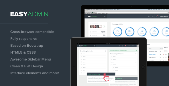 Easy Admin - Responsive HTML Template
