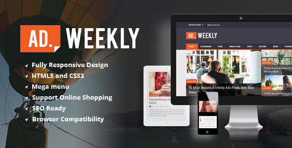 AD.WEEKLY - Magazine HTML5 Template