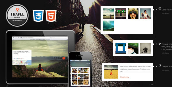 Travel Fullscreen Responsive Ajax HTML template