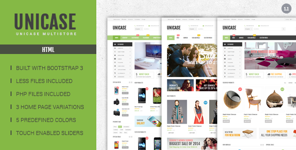 Unicase - Electronics eCommerce HTML Template