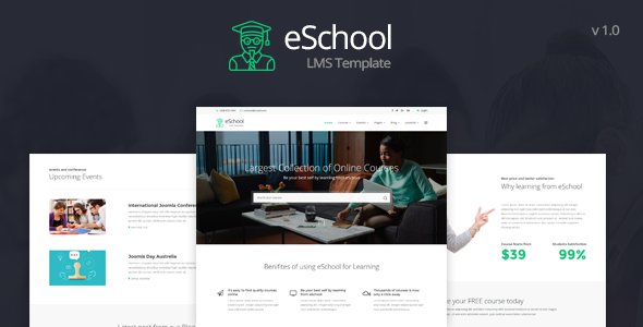 eSchool - Education & LMS Joomla Template