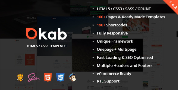 Okab - Responsive Multi-Purpose HTML5 Template