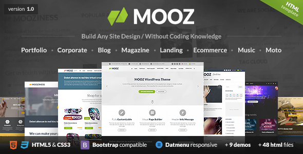MOOZ - The Multi-Purpose HTML5 Template