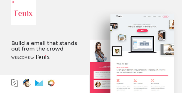 Fenix - Responsive Email Template Minimal