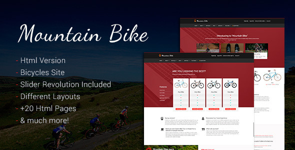 Mountain Bike - Bicycle and Bmx Sporting Template