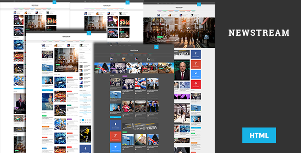 Newstream - Responsive Blog/Magazine HTML template