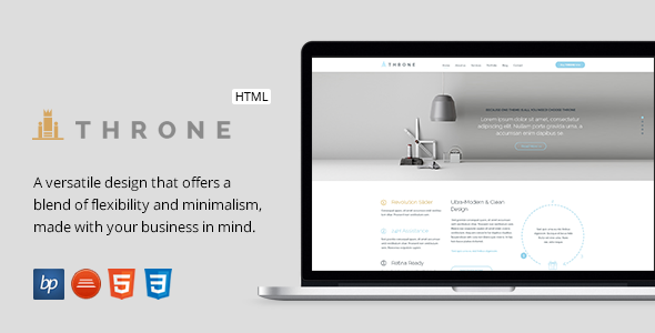 Throne - Responsive Business HTML5 Template