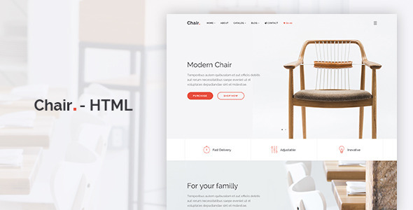 Chair - HTML E-Commerce Website Template