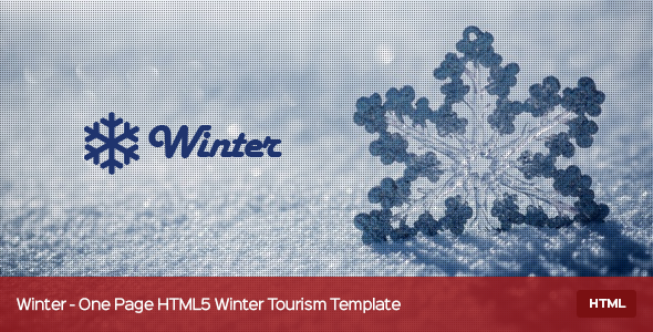 Winter - One Page HTML5 Winter Tourism Template