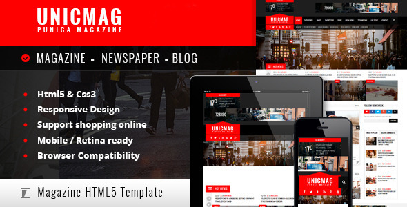UnicMag - HTML5 Responsive Template