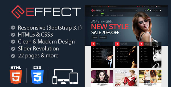 Effect - Responsive E-Commerce Template