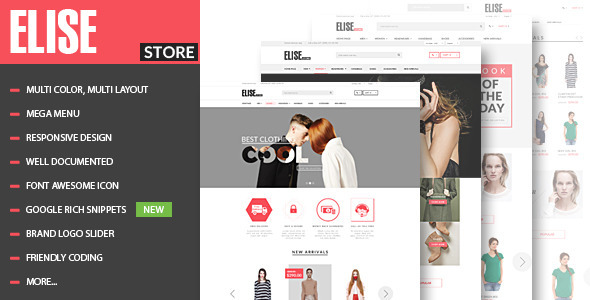 Elise - Advanced Fashion HTML Template + Blog