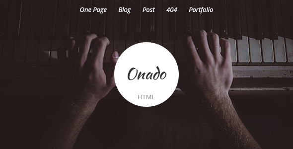 Onado - One Page Template