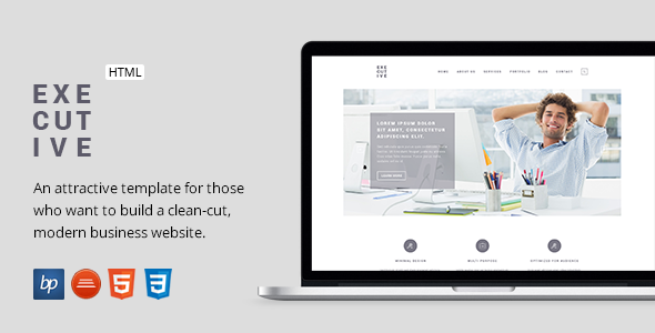 Executive - Responsive Business HTML5 Template