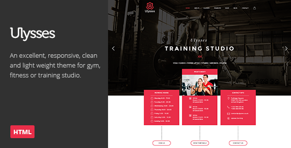 Ulysses | Gym Fitness HTML Theme