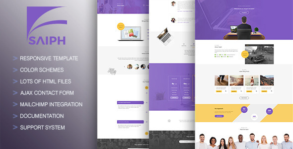 Saiph - Creative, Unique HTML Template