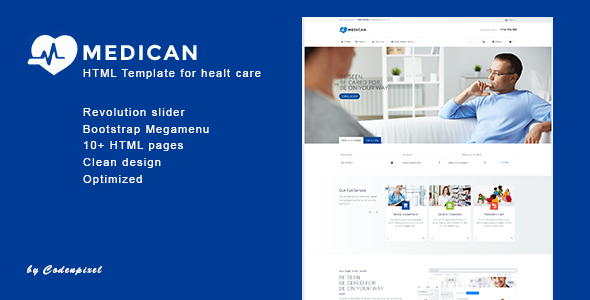 Medican - Health, Medical, Hospital Template