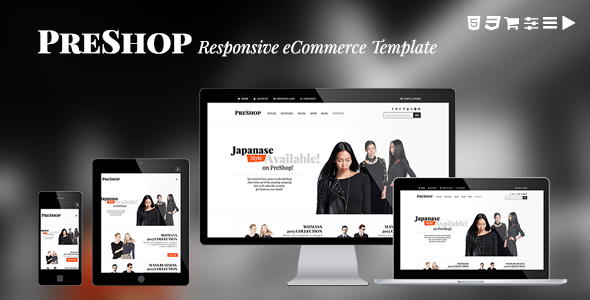PreShop - Responsive E-Commerce Website Template