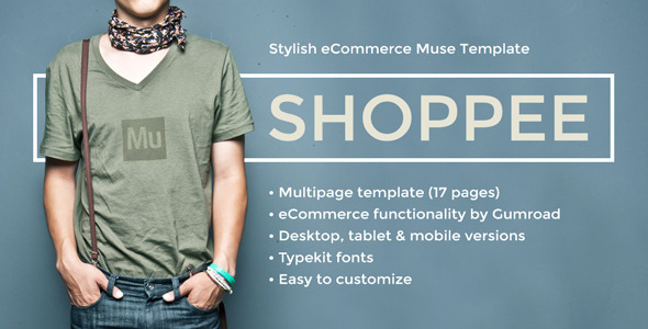 Shoppee - Stylish eCommerce Muse Template