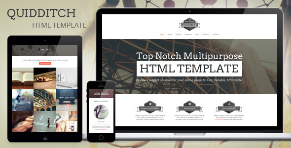 Quidditch - One Page HTML Template