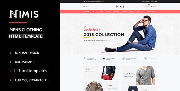 Nimis - eCommerce Shop HTML Template