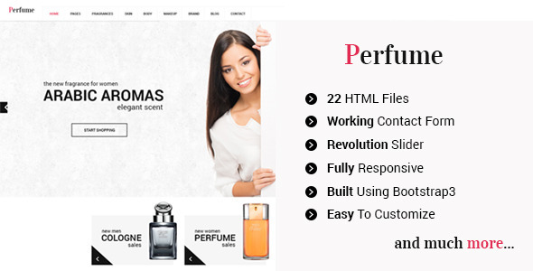 Perfume - Responsive e-commerce HTML5 Template