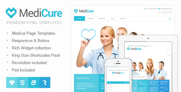 MediCure – Health & Medical HTML5 Template