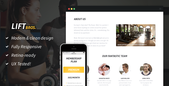 LiftBros. HTML Template for Gyms & Fitness Clubs