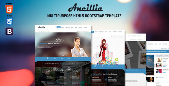 Ancillia Multipurpose HTML5 Bootstrap Template
