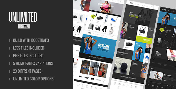 Unlimited - Sports Wear & Accessories Store Template