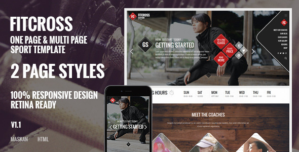 FitCross - Responsive Sport, Gym and Fitness Template