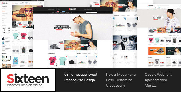 Sixteen - Responsive HTML Fashion Template