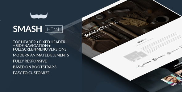 Smash - Responsive Bold Multipage/Onepage Template